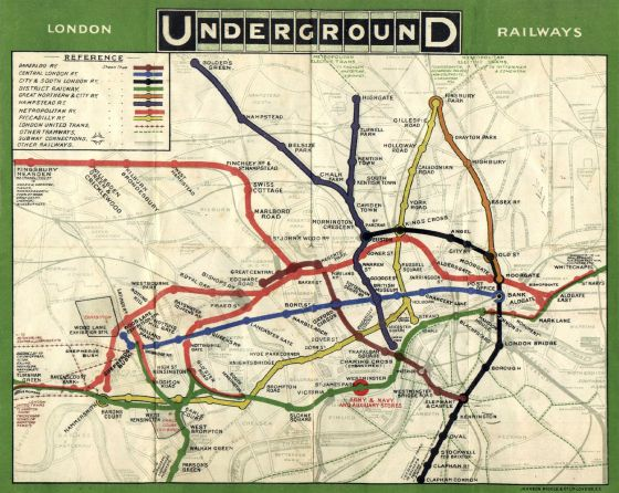 An image of the original underground map